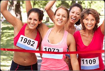 נשים בפעילות ספורטיבית משתמשות בפי free